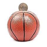 ZMX Creative Basketball Piggy Bank, Ceramic Money Bank Saving Box, for Children Boys Adult Birthday (Color : Medium Basketball)