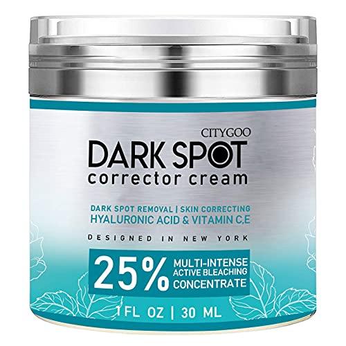 CITYGOO Dark Spot Remover for Face and Body, Dark Spot Corrector Cream, Natural Ingredient,Enriching Skin Care For All Skin Tones - Sun Spot, Age Spot Remover & Blemish Reducer-1 FL OZ