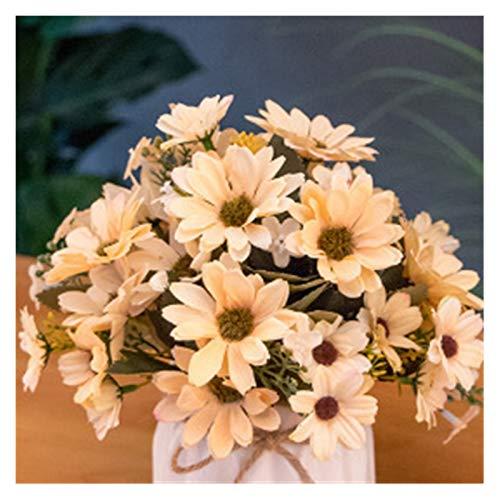 Hjdmcwd Künstliche Blumen 25 köpfe Künstliche Blumen Chrysantheme Blume Zweig gefälschte Flores für Home Garten Dekorationen Party Hochzeit Decor Bouquet (Farbe : Orange)