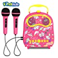 KINDL Kids Karaoke Machine Portable Handheld Karaoke Speaker with 2 Mic ,Connects Mp3 Player Aux in Audio Device by KINDL manufacture