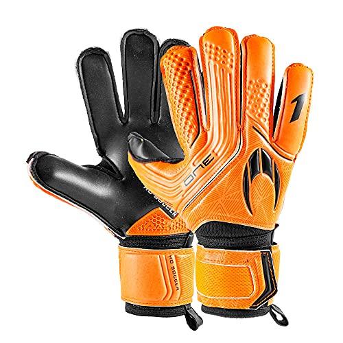 Ho Soccer One Flat Protek Neonorange Guantes de Portero, Unisex niño, Naranja, 3