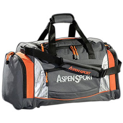 AspenSport Freizeittasche Dubai, grau/orange, 30 x 50 x 30 cm, 55 Liter, AB05V05