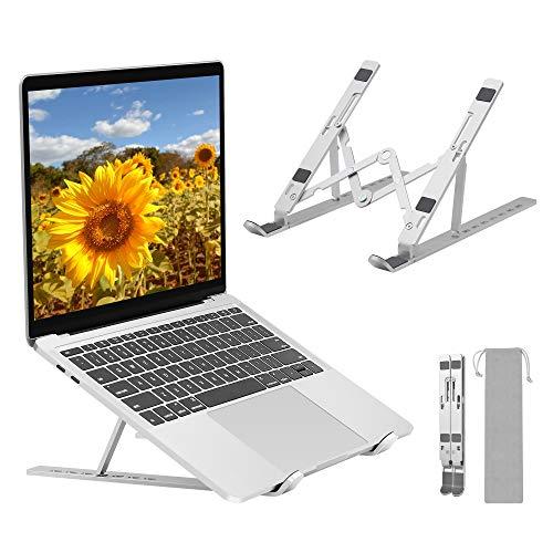 FIASON - Supporto portatile e stabile in lega di alluminio, 7 angoli, regolabile, per tutti i tipi di computer portatili con buona dissipazione del calore per la casa
