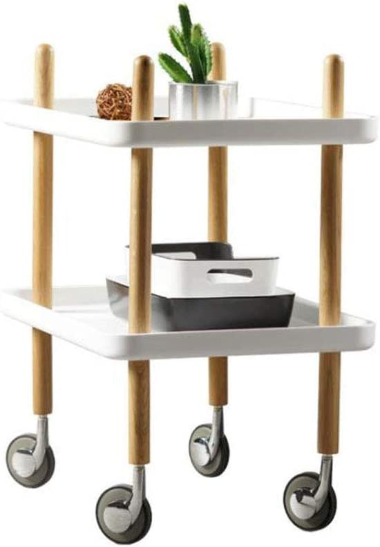 End Ultra-Cheap Deals Table Side Nightstand Bedroo Wheel Pulley Coffee quality assurance