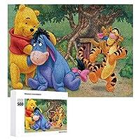 Winnie The Pooh ジグソーパズル 1000ピース diy 絵画 学生 子供 大人 Jigsaw Puzzle 木製パズル 溢れる想い おもちゃ 幼児 アニメ 漫画 壁飾り 入園祝い 新年 ギフト 誕生日 クリスマス プレゼント 贈り物