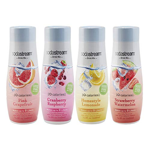 SodaStream Variety Pack Drink Mixes, 0 Calories, 14.8 Fl Oz, Pack of 4