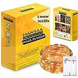 Mansaa Copper String Light (5 m, Yellow)
