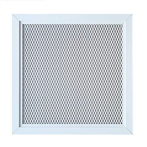 Rejilla de Ventilación de Aluminio con Red Metálica en Color Blanco con Recubrimiento de Polvo RAL...