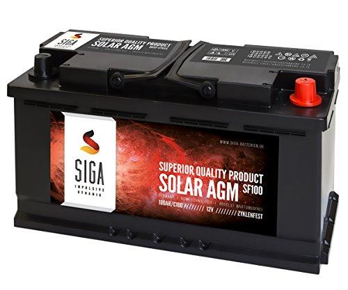 SIGA Blei Akku 12V 100Ah AGM Gel Batterie Solarbatterie Wohnmobil Mover Boot Versorgungsbatterie