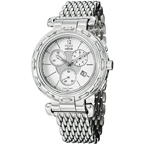 Fendi Selleria Men's White Face Stainless Steel Chronograph Watch F89034H-BR8153