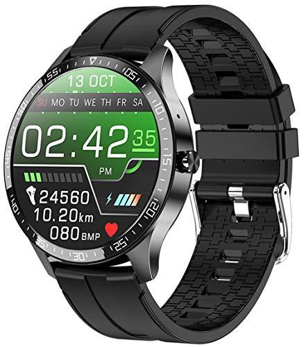 PHIPUDS Smartwatch Orologio Fitness Donna Uomo  Chiamata Bluetooth  Smart Watch Android iOS Contapassi Cardiofrequenzimetro da Polso ECG Orologio Sportivo Conta Calorie Activity Tracker (Nero)