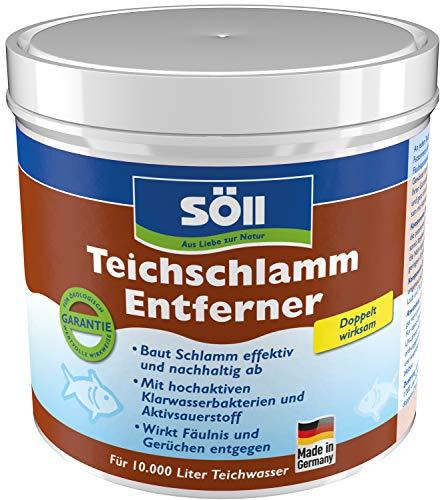 Söll 11604 TeichschlammEntferner doppelt wirksam gegen Teichschlamm 500 g - biologischer Teichreiniger entfernt organischen Schlamm und Ablagerungen im Gartenteich Fischteich Schwimmteich Koiteich