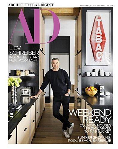 Architectural Digest Magazine (June, 2018) Liev Schreiber Cover