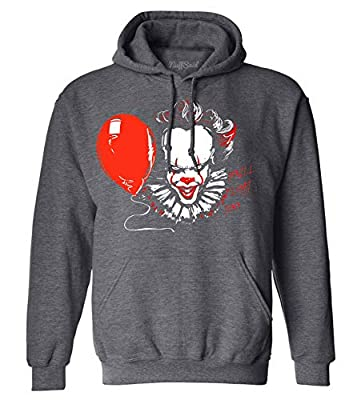 NuffSaid You'll Float Too Pennywise Classic 80's Horror Sweatshirt - Graphic Clown Hoodie