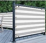 YZJL Vallas Decorativas Balcón Pantalla 150 gsm de Polietileno de Alta Densidad Protección UV Visual oclusión del Patio Trasero Adecuado Decoracion Jardin (Color : Gray White, Size : 1.8x9m)