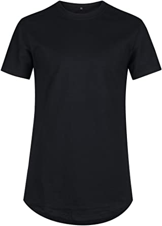 VFIVE UNFOUR Mens Hipster Extra Long Line Tail Extended Hip Hop T Shirts