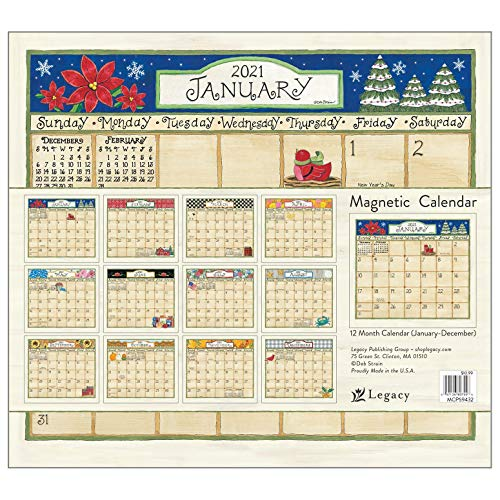 Legacy Publishing Group 2021 Magnetic Calendar Pad, Coming Home