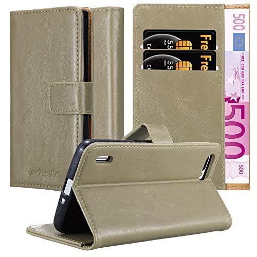 Cadorabo Hülle für Honor 6 Plus - Hülle in Cappucino BRAUN – Handyhülle im Luxury Design mit Kartenfach & Standfunktion - Case Cover Schutzhülle Etui Tasche Book