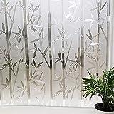 LMKJ Pegatinas electrostáticas Impermeables de privacidad de Ventana de bambú Pegatinas de Ventana de película de Vidrio de Bloque UV A1 45x100cm