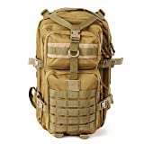 XRPXRP 40L Waterproof Multi-Purpose Military Tactical Backpack Large 3-Day Assault Molle Backpack for Hiking, Mountaineering, Camping, Hunting, Fishing
