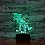 Fly Dinosaurier 3D LED Lampe 5 V USB Tisch Nachtlampe Acryl Lava Lampe Kreative Cartoon Schreibtisch Wohnkultur Schlaf Beleuchtung Kinder Geschenke, Touch