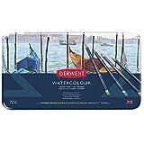 Derwent Watercolour - Set de 72 lápices de colores acuarelables, con estuche metálico, multicolor