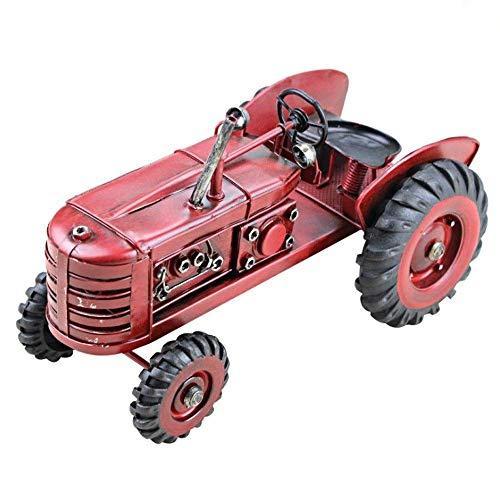 Estación Tractor del coche modelo de colección Vehículos Hierro retro Arte Modelo Modelo del carro, regalo conmemorativo de América rural Decoración estilo europeo del vino del hogar Decoración apoyo