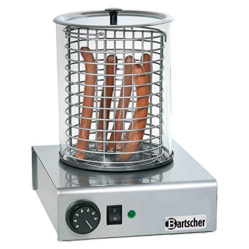 Bartscher a120401Dampfgarer für Hot Dog 1000W Edelstahl Maschine für Hot Dog
