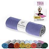 NirvanaShape ® Yoga Handtuch rutschfest   Hot Yoga Towel mit Antirutsch-Noppen   hygienische Yogatuch-Auflage für Yogamatte [ 185 x 63 cm ]