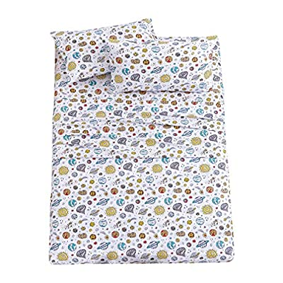 JSD Kids Printed Sheet Set Twin/Full Size, 3/4 Pieces Brushed Microfiber Sheets 15 inch Deep Pocket, Wrinkle-Free Soft and Durable