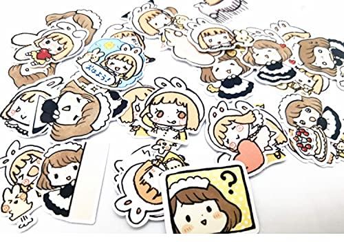 ZZHH Cute Hand Account Stickers Girl Cartoon Hand Account Decoración Disfrazada Maid Plan Esta ilustración Anime Character Stickers