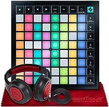 Novation Launchpad X Ableton Live 8x8 64 Backlit RGB Pads Grid Controller w/Software Bundle + SR360 Over-Ear Dynamic Stereo Headphones & Fibertique Microfiber Cleaning Cloth