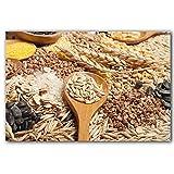 YALUO Fotos de Carteles Granos de Cereales, Semillas, Frijoles en Fondo de Madera Comida Salud Estilo nórdico Lienzo Pintura Estampado Regalo Pared Arte (Color : B, Size : 30x40cm No Frame)