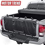 Motor Trend Truck Tailgate Pad for Mountain Bikes – Durable 1 Inch Foam Cover with Carbon Fiber Design, Shock Resistant with Handle and Backup Camera Window (48 inch x 18 inch)