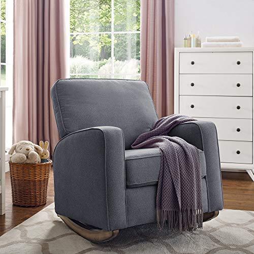 Classic Brands Amabella Rocker Chair - Metal, Grey