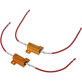 Coppia Resistenze Moto Alluminio 25W Led Frecce Direzione Mini Lampeggiatore