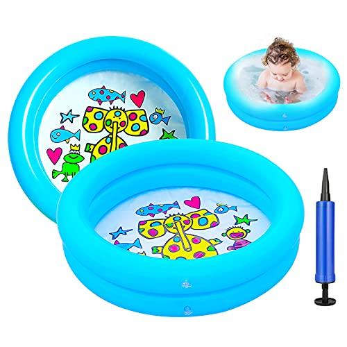 Ucradle 2er Pack Aufblasbare Planschbecken - Babypool Aufblasbares Badewanne Badespielzeug Schwimmen Pool Sommer...