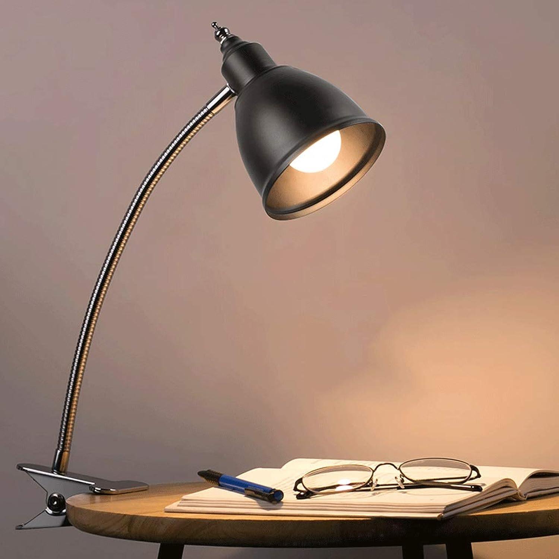 LXFMD LED-Clip Tischlampe College-Schlafsaal Studie Auge Tischlampe Schlafzimmer Nachttischlampe (Farbe   Silber)