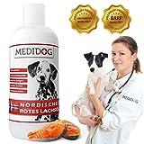Medidog 1 Liter Rotes Premium Lachsöl für Hunde und Katzen reich an Omega-3...
