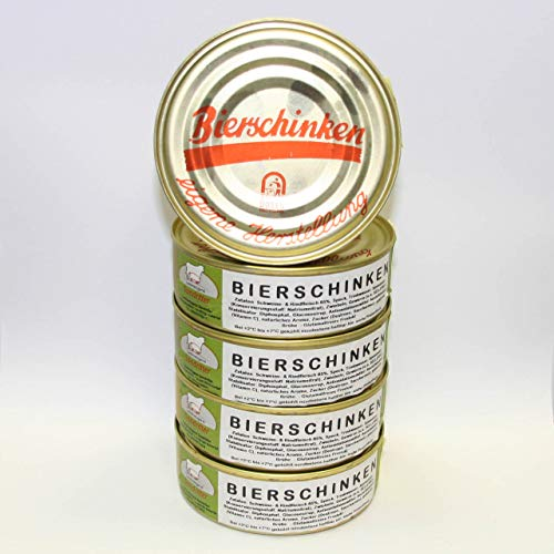 Bierschinken 5x200g Dosenwurst, Vorteilsset, Vorratsset, Landmetzgerei Sandritter