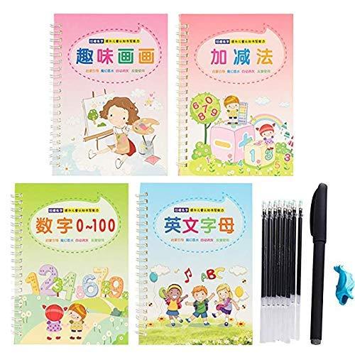 Kids Magic Writing Board con bolígrafo, reutilizable Magic Writing Paste Children, se puede reutilizar el juego de libros de escritura a mano