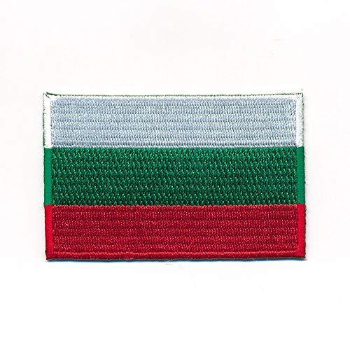 hegibaer 30 x 20 mm Bulgarien Flagge Sofia Europa Flag Patch Aufnäher Aufbügler 1155 Mini