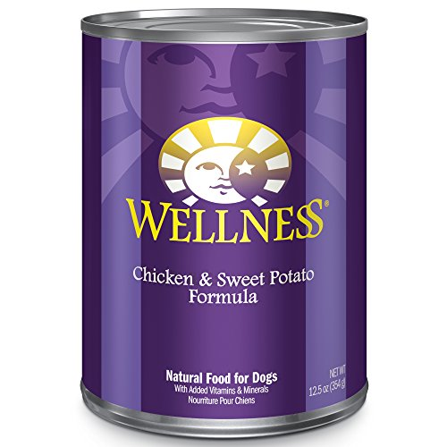 Wellness Complete Health Natural Wet Canned Dog Food, Chicken & Sweet Potato, 12.5-Ounce Can (Pack...