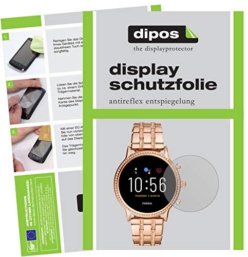 dipos I 6X Schutzfolie matt kompatibel mit Fossil Julianna HR (5. Gen.) Folie Displayschutzfolie