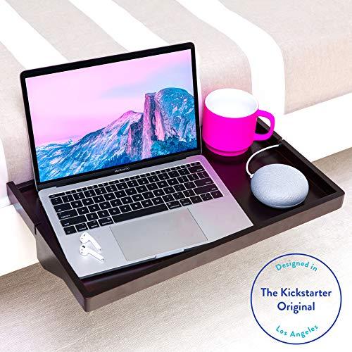 BedShelfie Plus Das Original Nachttisch Regal - 3 Farben / 2 Größen - GESEHEN AUF Business-Insider und Kickstarter (Plus Größe, Bambus in Schwarz)