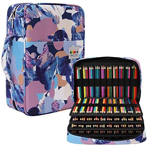 JAKAGO Estuche de Gran Capacidad para 304 Lápices de Colores, Impermeable, Organizador de Papelería para Colorear, Pinceles de Pintura, Fineliners, Rotuladores, Regalo para Estudiantes de Arte