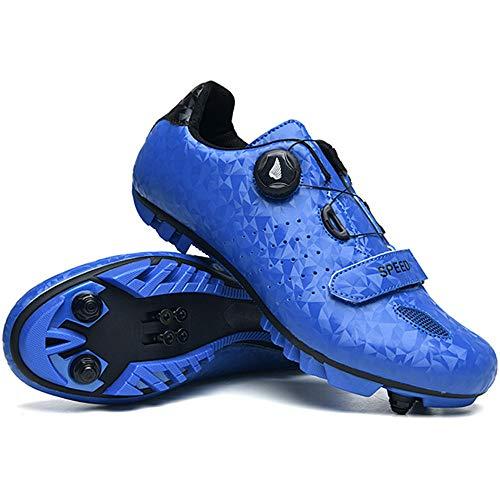 ZRZJBX Zapatillas De Ciclismo MTB,con Suela De Carbono Y Triple Tira De...