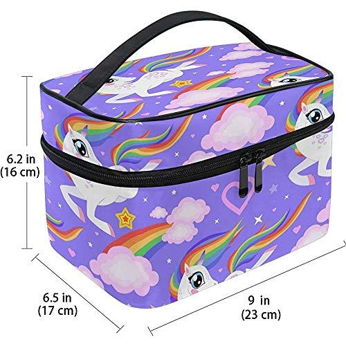 Reis Cosmetische Tas Cartoon Leuke Witte Eenhoorn Cloud Regenboog Reizen Cosmetische Borstel Tas Opslag Organizer