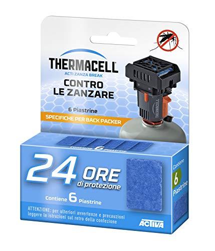 Thermacell 24 Ore Piastrine-Back Packer Ricarica per Dispositivi per la Protezione dalle Zanzare