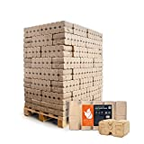 HEIZFUXX Holzbriketts Hartholz Ruf Duplex Kamin Ofen Brenn Holz Heiz Brikett 10kg x 96 Gebinde 960kg / 1 Palette Paligo